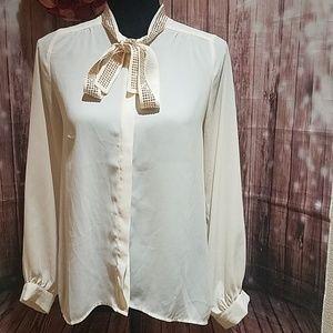 Fora embellished neckline shirt